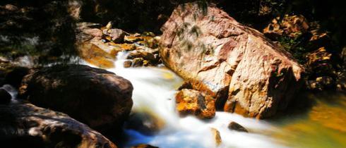 在白水寨欣赏国内最高落差的瀑布