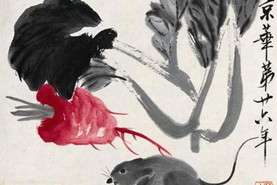 最会画虾的白石老人作品到广州