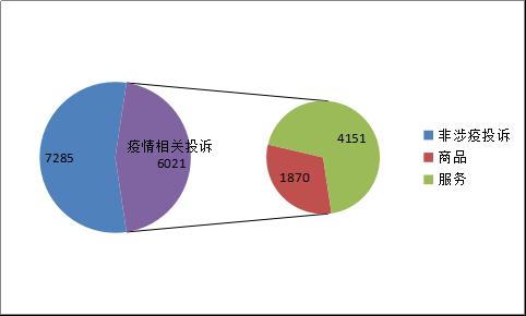 图1:总投诉及疫情相关投诉数据图(1.20-2.2)