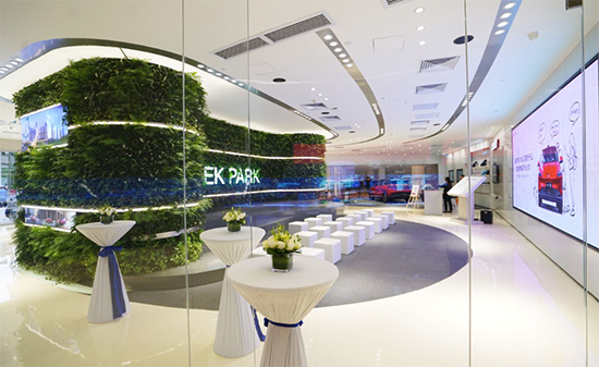 广州体验中心为用户打造了一个生机勃勃的GEEK-PARK文化空间