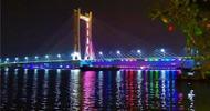潮州大桥试亮灯效果这么炫