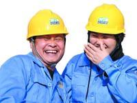 佛山地铁三号线盾构机出洞,工人们非常开心。广州日报全媒体记者龙成通 摄