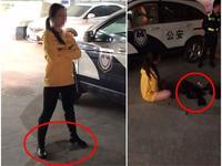 深圳女子为醉驾男教师顶包 当众小便脱光阻挠执法