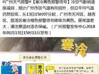 广州寒冷橙色预警信号降级为黄色 明起重回20℃