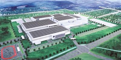 增城第10.5代显示器全生态产业园区一期效果图。广州日报全媒体记者骆昌威 摄