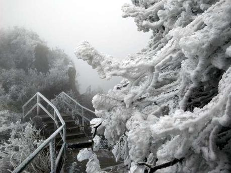 一夜北风乐虎国际娱乐(唯一)官方网站现冰封大山奇景