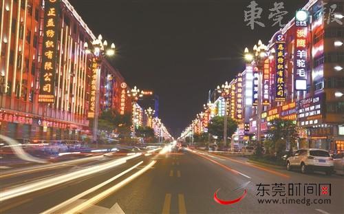 ■大朗分局打造流光溢彩的城市主干道