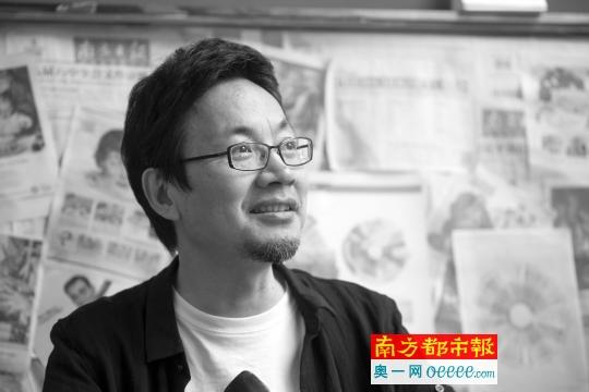广州城市形象logo设计者、广州美术学院视觉艺术设计学院院长曹雪。 南都记者 梁炜培 摄
