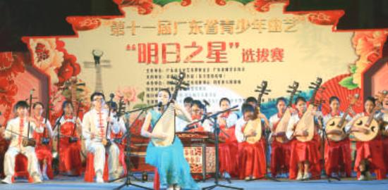 """广东省""""明日之星""""曲艺大赛在均安举办。/珠江商报记者陈炳辉摄"""