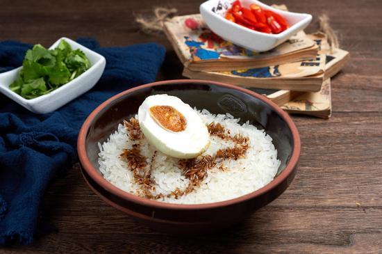 黑白简笔画米饭