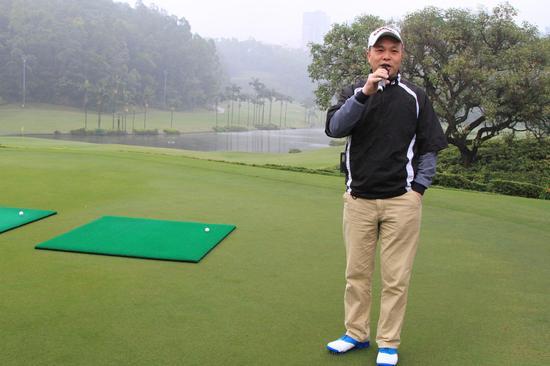 迈进高尔夫球馆董事长谭秋华先生