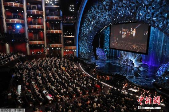 图为第90届奥斯卡颁奖礼现场。