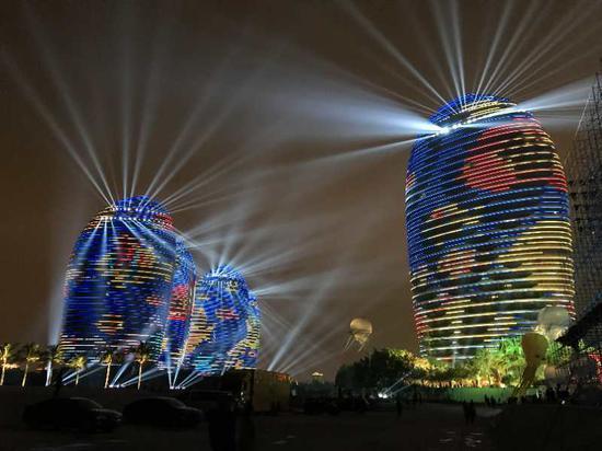 2018年央视春节联欢晚会海南三亚分会场。 刘昌 摄