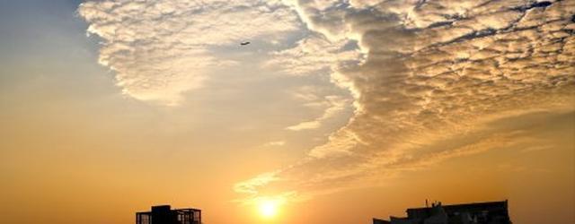 广州美到上天的日落
