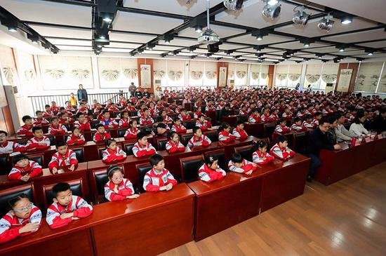 红色圣地科普行启动仪式现场