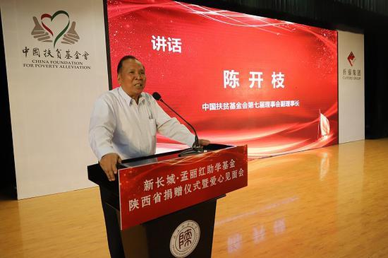 中国扶贫基金会第七届理事会副理事长陈开枝先生讲话