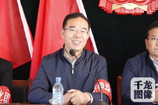 天津北洋益山助学基金会理事长牛占文讲话