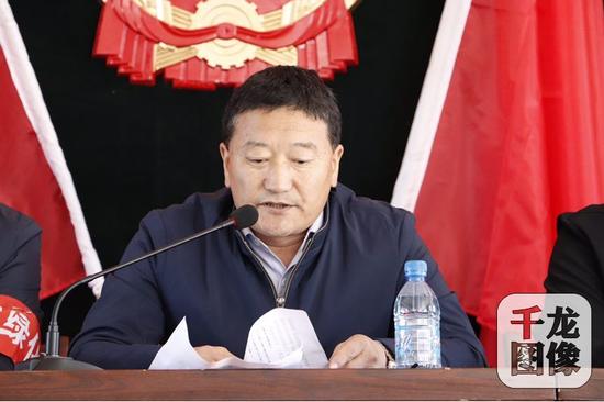 苏木党委书记格日勒朝克图讲话