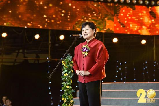 中国社会福利基金会秘书长缪瑞兰讲话