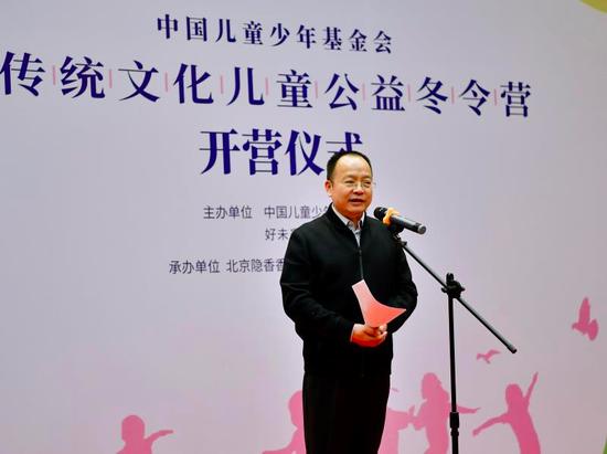中国儿童少年基金会秘书长朱锡生