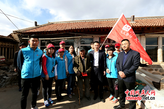 人人公益网志愿者走进农村贫困残疾人家庭