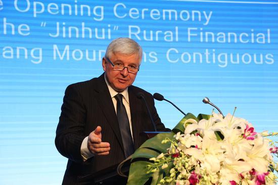 捷克中央银行行长伊日.鲁斯诺克(Jiri Rusnok)讲话