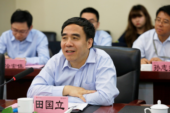 中国银行党委书记、董事长田国立先生讲话