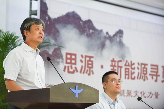中国书协西部书界新秀系列研修班负责人张国朝讲话