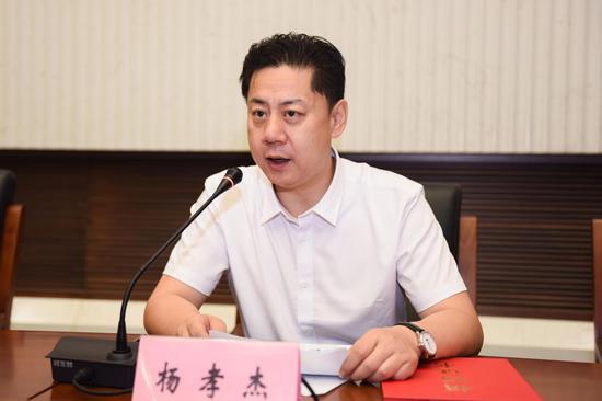 青岛澳鼎生物科技有限公司总经理杨孝杰发言