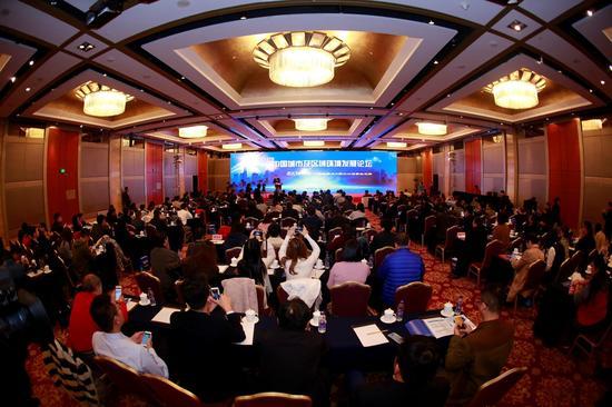 中国环境科学学会2017年中国城市及区域环境发展论坛现场,约200人与会