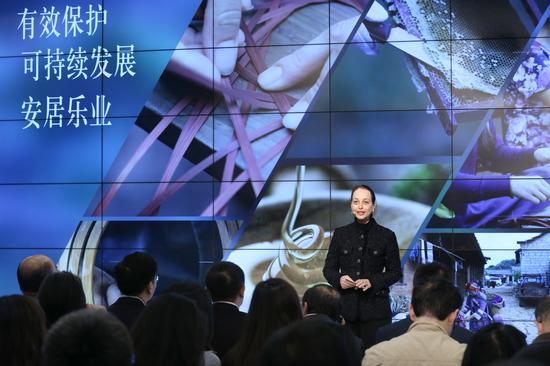 联合国教科文组织驻华代表欧敏行女士分享世界遗产地可持续生计项目的积极意义