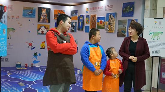 张军茹老师和三位学员代表康睿、毕圣轩、徐熙礼