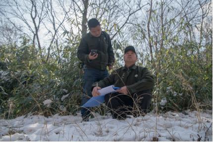 杨家沟保护站站长王军岗记录探访途中遇见的野生动物