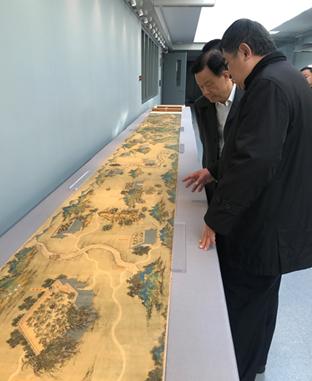 许荣茂先生、单霁翔院长及重要嘉宾参观《丝路山水地图》