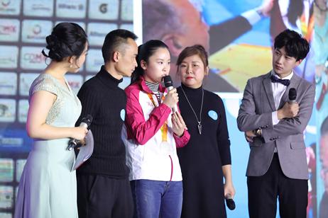 贵州盛华盲人学院学生,世界残奥会冠军蔡丽雯和家人
