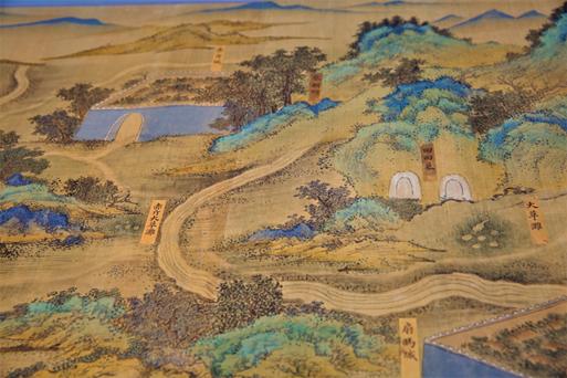 《丝路山水地图》局部