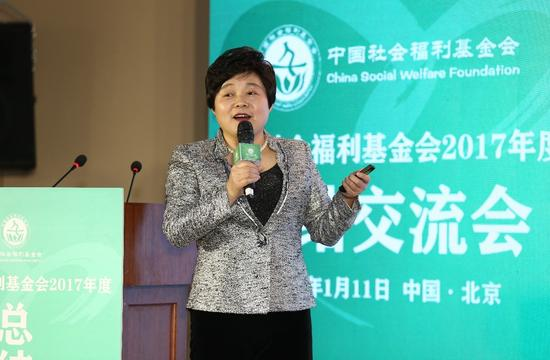 (中国福基会代理秘书长缪瑞兰发布基金会2017年度数据报告)