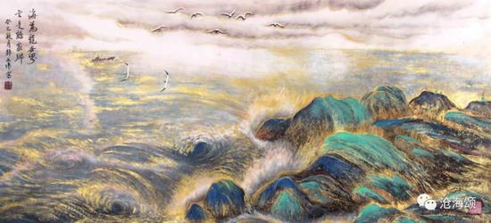 海为龙世界 60x138 cm 郭文伟作