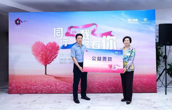 美年健康向上海宋庆龄基金会捐赠善款