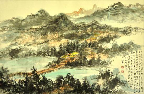 《黄帝陵写生》68cm×46cm 创作时间2012年