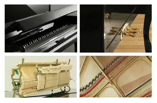 图:斯威特钢琴 立式钢琴123型细节展示
