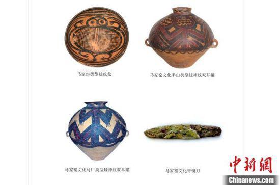 图为马家窑文化彩陶珍品展海报。 艾庆龙 摄