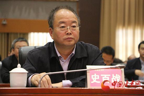 省高校工委书记、省教育厅副厅长史百战讲话
