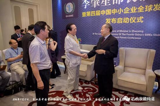 图:原外交部李肇星部长亲切接见江荣宇院长