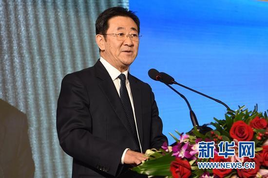 新华社总经理室总经理张永平在推介活动上致辞。新华社记者 范培珅 摄