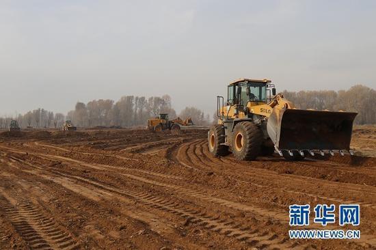 临泽县高标准农田建设场景。 受访者供图