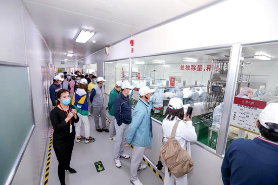 图| 企业家们走进燕之屋燕窝工厂交流学习