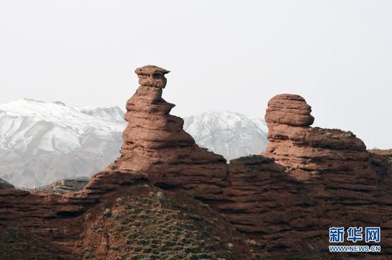 甘肃省张掖市壮美平山湖大峡谷