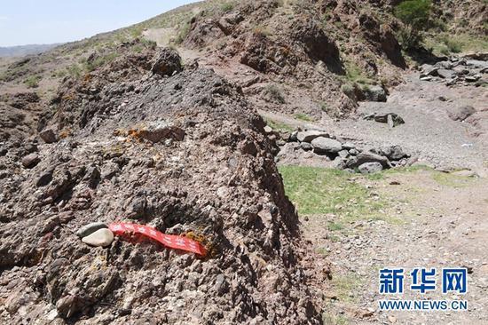 这是5月24日拍摄的甘肃景泰第四届黄河石林山地马拉松百公里越野赛的CP2至CP3赛段沿途。新华社记者 范培珅 摄