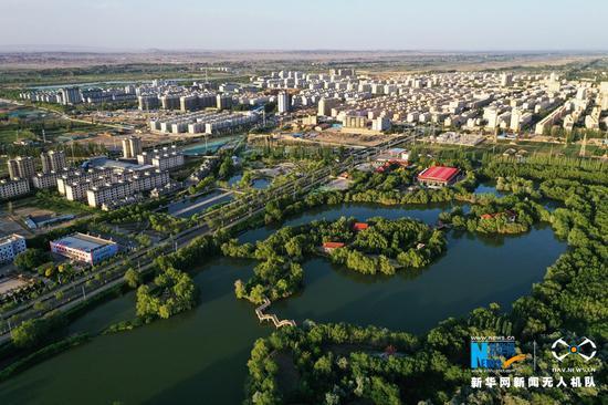 """【""""飞阅""""中国】甘肃高台:黑河湿地生态美"""